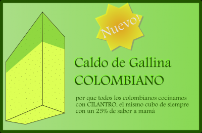 Caldo de Gallina Colombiano (con 25% de cilántro)